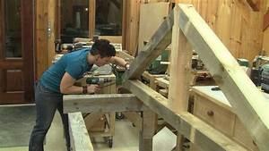 Comment Fabriquer Une Table De Ferme En Bois : l 39 gosseux d 39 bois ep 115 comment faire une ferme en bois massif youtube ~ Louise-bijoux.com Idées de Décoration
