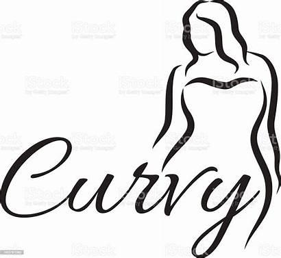 Curvy Plus Silhouette Woman Vector Symbol Illustration