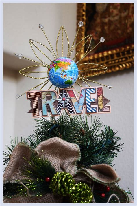 travel theme tree topper travel theme christmas tree