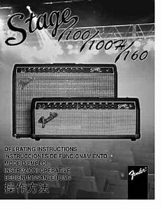 Fender Stage 100 Amplifier Download Manual For Free Now