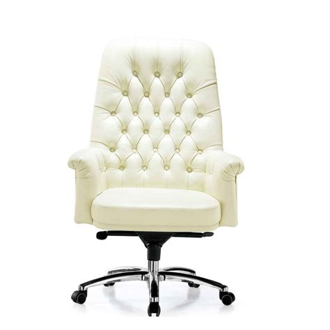 white office chair leather white leather desk chair office furniture