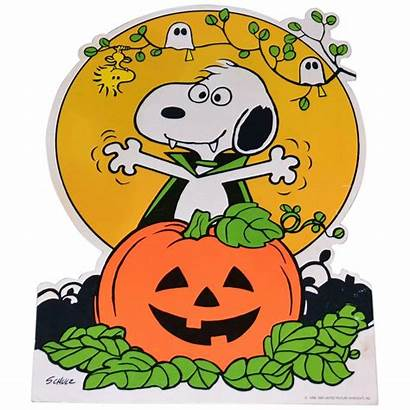 Halloween Snoopy Peanuts Charlie Brown 1965 Transparent
