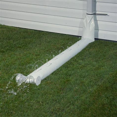 rainguard 9ft downspout extensions white gutter