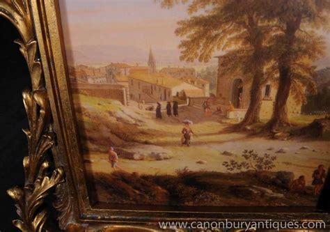 french provence oil painting rustic landscape rococo frame