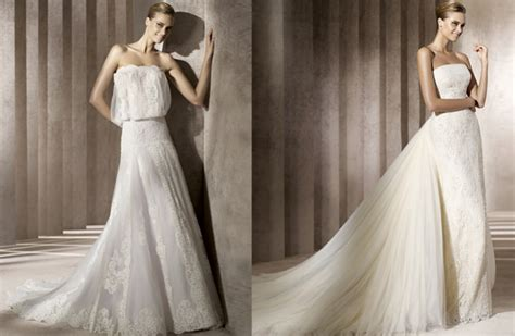 Manuel Mota Strapless Lace Wedding Gown