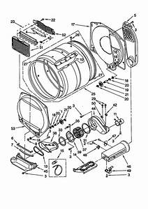 Dryer Bulkhead Diagram  U0026 Parts List For Model Lte6234dq1 Whirlpool