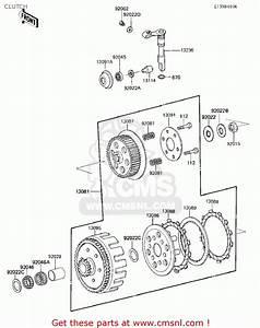 Kawasaki Kx125-e1 Kx125 1986 Usa Canada Clutch