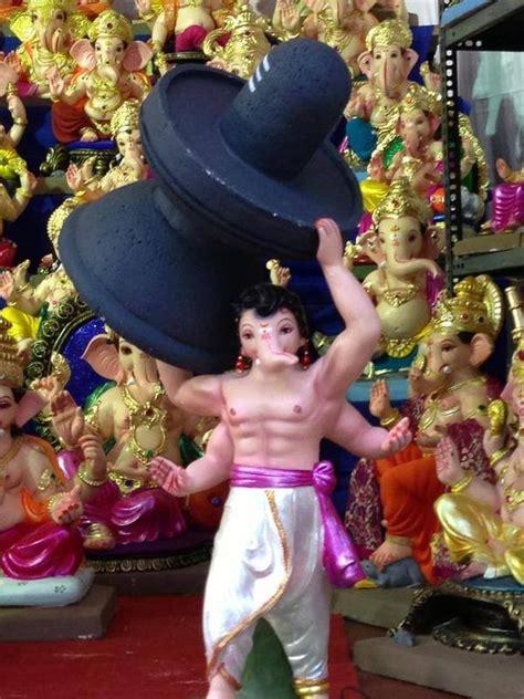 ganesh chaturthi idols inspired  prabhas baahubali