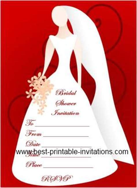 blank bridal shower invitations  printable invites