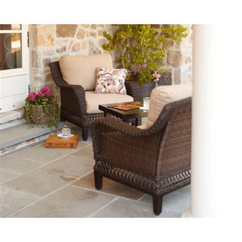 hton bay woodbury 3 wicker outdoor patio chat set