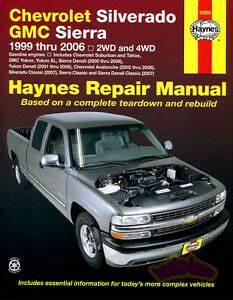 car repair manuals online free 1995 gmc suburban 1500 parental controls chevrolet silverado gmc sierra shop service repair manual haynes truck chilton ebay