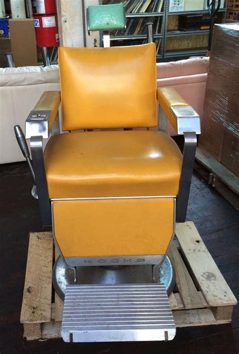 Kochs Barber Chair 1960 by Theo O A Kochs Antique Barbers Chair 1960 I Green