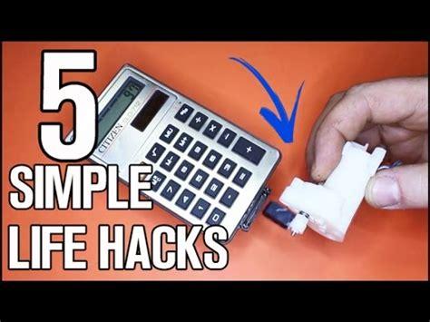 5 Simple Life Hacks & Ideas Youtube
