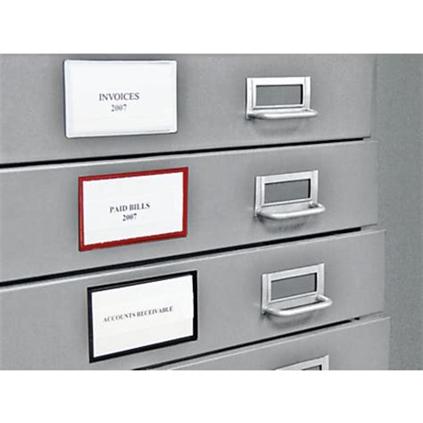 magnetic file cabinet labels panter magnetic label holders black pack of 10 by office