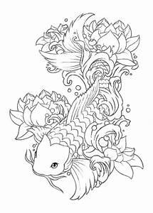Koi Tattoo Vorlagen : 9 besten ryby ky bilder auf pinterest fische fisch zeichnungen und koi ~ Frokenaadalensverden.com Haus und Dekorationen