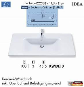 Waschtisch Mit Unterschrank 100 Cm : marlin idea waschtisch set mit 100 cm keramik waschtisch led unterschrank mit 2 lichtfarben ~ Markanthonyermac.com Haus und Dekorationen