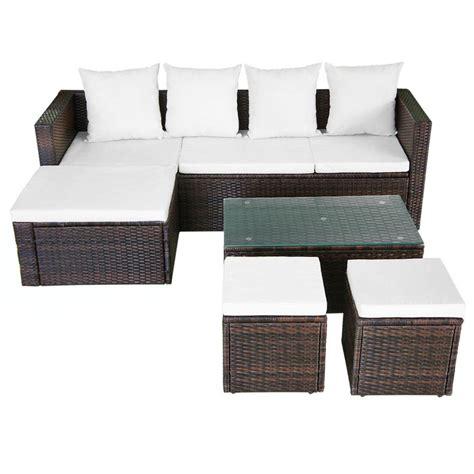 ensemble de canapé acheter vidaxl ensemble de canapé d 39 angle pour jardin 12