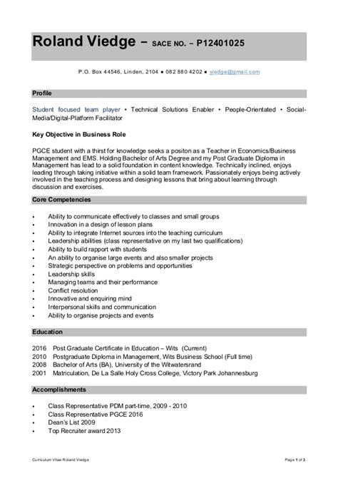 Resume Sle Word by Curriculum Vitae Sle Docx Cover Letter Template Word