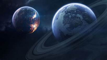 Saturn Planet Rings Space 4k Background Desktop