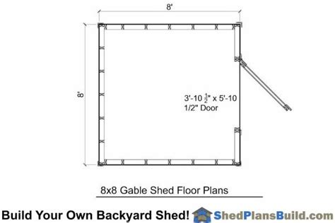 8x8 backyard shed plans build your own 8x8 backyard shed