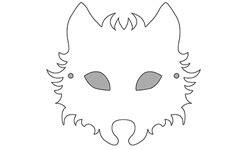 Wolf Mask Template Free - Costumepartyrun