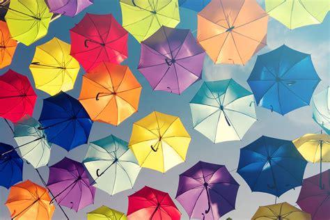 Wallpaper Umbrella by Coloured Umbrellas Wallpaper For Decor