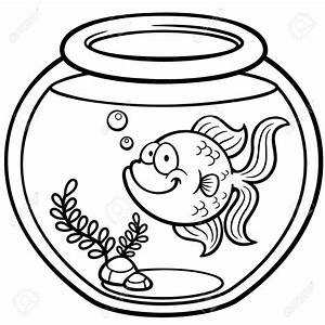 Goldfish clipart bowl drawing - Pencil and in color ...