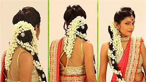 Indian Bridal HairStyle Step By Step South Indian Bridal Hair Style For Wedding & Reception