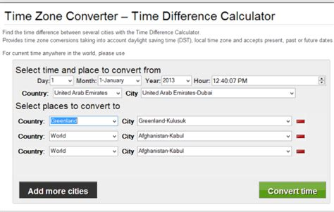 time zones converter software