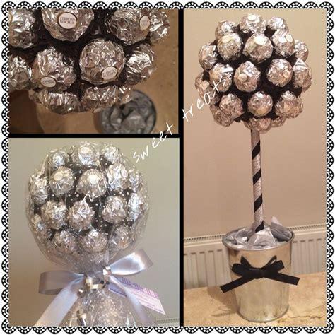 geschenke für silberhochzeit silver ferrero rocher sweet tree small 163 18 large 163 28 centerpieces for geschenke
