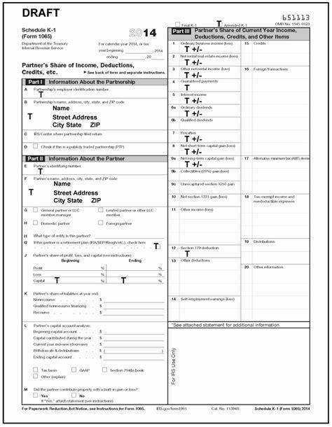Form K 1 Luxury Sample Schedule K 1 Copy Document