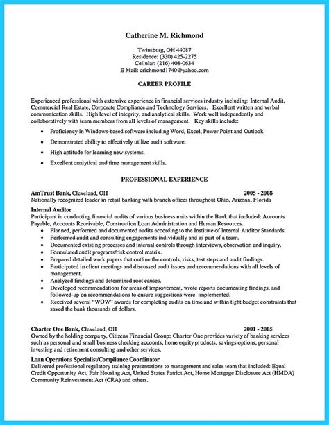 Audit Resume by A Concise Credential Audit Resume