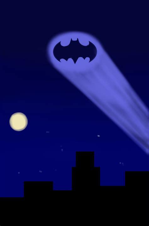 batman signal light bat signal at by cyberdemonthree on deviantart