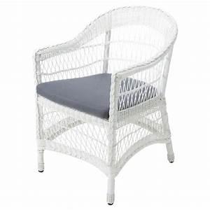 Fauteuil De Jardin Blanc : fauteuil de jardin blanc emily maisons du monde ~ Teatrodelosmanantiales.com Idées de Décoration
