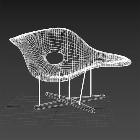chaise ée 60 3d eames la chaise high quality 3d models