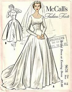 174 best sewing patterns wedding dresses images on With vintage wedding dress patterns