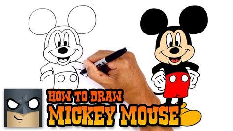 draw mickey mouse disney youtube