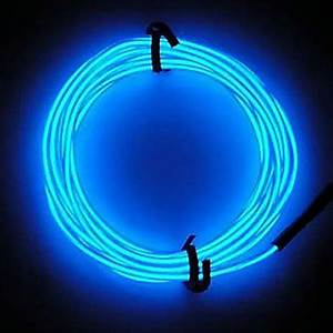 Neon LED Light Glow EL Wire String Strip Rope Tube Car Bar