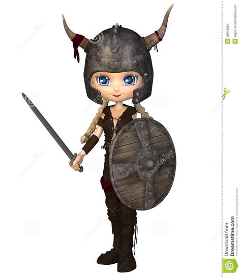 Toon Viking Warrior Girl Stock Images Image 28915804