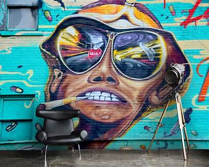 Graffiti Wallpapers Wall Mural Vinyl Face Cigarette