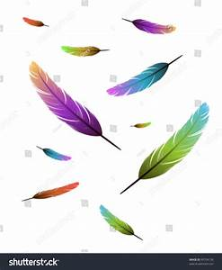 Colored Feathers Falling Background Stock Vector 99704138 ...