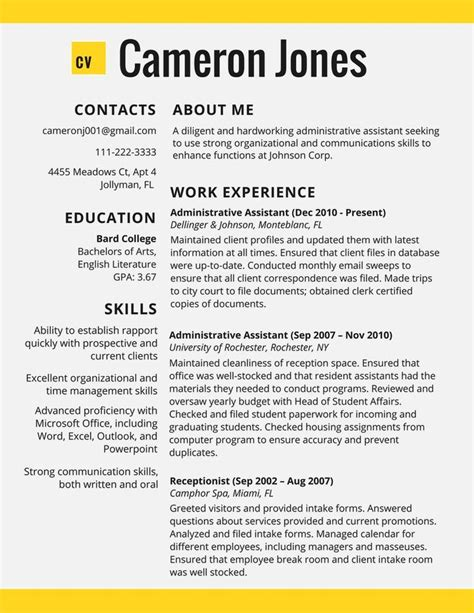 Excellent Resume Templates by Best 308 Resume Exles Ideas On Resume
