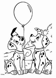 Puppies with balloons coloring pages - Hellokids.com