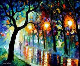 breathtaking oil paintings using only a palette knife