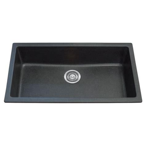 single bowl black granite topmount kitchen sink 790mm