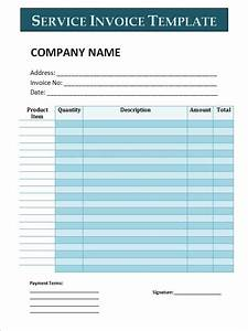 Microsoft Word Invoices 34 Printable Service Invoice Templates Sample Templates