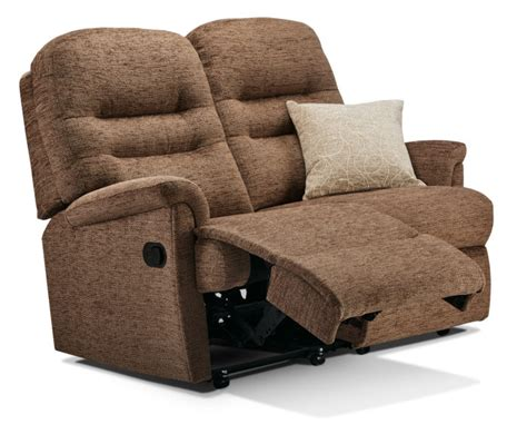 Small 2 Seater Settees by Keswick Small Fabric Reclining 2 Seater Settee Sherborne
