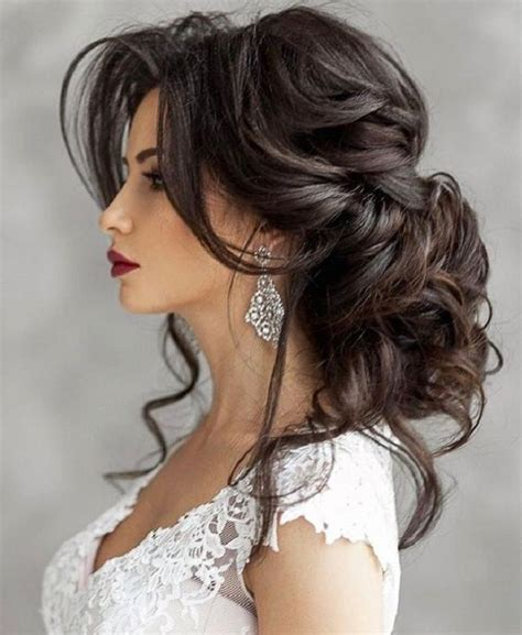 photo  long hairstyles  wedding party