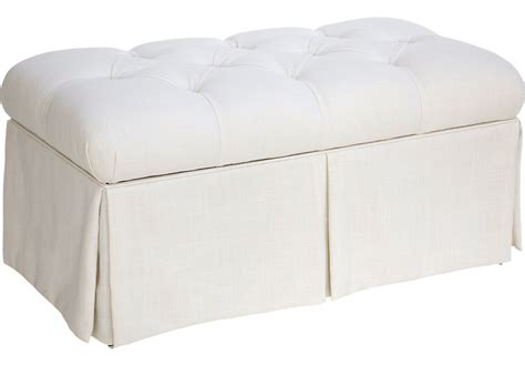 Accent Storage Bench whitmere white storage bench accent benches colors