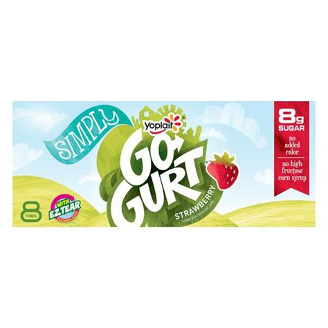 yoplait simplygo gurt strawberry portable  fat